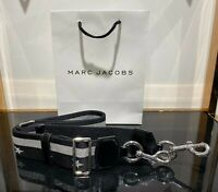 Marc Jacobs STARS AND STRIPES WEBBING STRAP Silver for Snapshot camera bag 100%