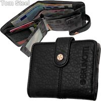 BRUNOTTI Damen Geldbörse schwarz Brieftasche Portemonnaie Geldbeutel Geldtasche