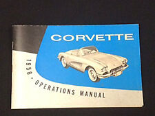 1958 Corvette Operations Manual---Nice New Reproduction---NCRS!