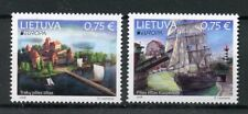 Lithuania 2018 MNH Bridges Europa Bridge 2v Set Boats Ships Architecture Stamps