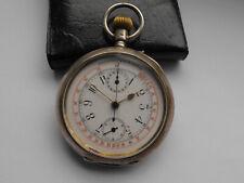 Alter wunderschöner Herren Taschenuhr Chronograph um 1900 Silber K.E.D. Altona