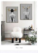 Body Art Lienzo cartel Ciervo fotos para la sala de estar Pared Decoración Hogar