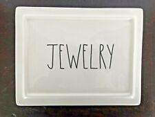 """Rae Dunn """"JEWELRY"""" Jewelry Box Ceramic Trinket Case Organizer - NEW!!!"""