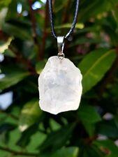 Raw Chunk of Clear Quartz Crystal Pendant Necklace Healing Gem stone healing