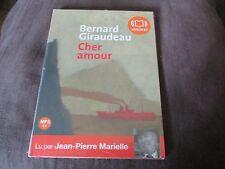 """LIVRE AUDIO NEUF """"BERNARD GIRAUDEAU : CHER AMOUR"""" lu par Jean-Pierre MARIELLE"""