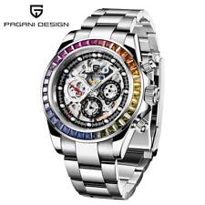 Reloj PAGANI DESIGN SKELETON DAYTONA MULTICOLOR - Zafiro - Movimiento HZ2196G