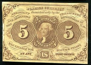 FR. 1230 5 FIVE CENTS FIRST ISSUE FRACTIONAL CURRENCY UNCIRCULATED