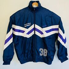 ADIDAS ORIGINALS Vintage 90's Retro Popper Long Short Sleeve 38 Jacket 2in1 Snap