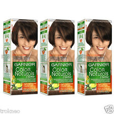 3pcs Garnier Color Naturals 6 Light Brown Color hair