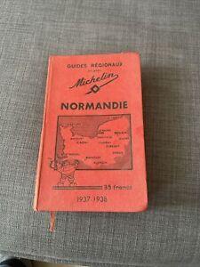 Guide Michelin Régionaux Normandie 1937 - 1938 25€ Envoi Gratuit En Suivi