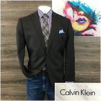 Calvin Klein Mens Sport Coat Blazer Wool Two Button Sport Jacket Size 46R
