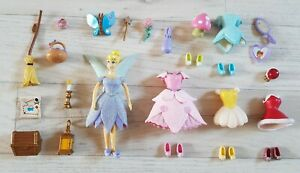 TINKERBELL RUBBER CLOTHES SET glitter outfits DISNEY fashion ACCESSORIES shoes