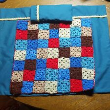 HANDMADE CROCETED AFGHAN, PILLOW AND SHEET  FOR DOLL BED~