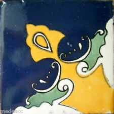 90 MEXICAN CERAMIC TILES WALL OR FLOOR USE CLAY TALAVERA MEXICO POTTERY #C080