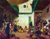 Jewish wedding (after Delacroix) by Pierre-Auguste Renoir Giclee Repro on Canvas