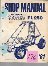 Honda 1981 FL250 Odyssey  #176 Shop Manual