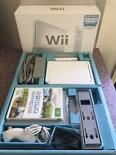 Nintendo Wii White Console Boxed!!! + Wii Resort - *Tested*