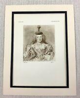 1927 Antique Print Portrait of Helene Fourment Sir Peter Paul Rubens Old Master