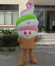 Advertising Ice Cream Shop Cone Mascot Costume Party Restaurant Sale Adult Dress