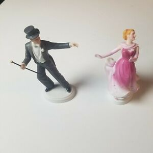 Avon Figurines Ginger Rogers and Fred Astaire Images of Hollywood 1984 Barkley's