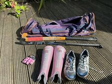 Field hockey set with bag, sticks and shoes