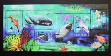 1998 AUSTRALIA PLANET OCEAN MINI SHEET **MUH**!! SHARK, WHALE, DOLPHIN, SQUID...