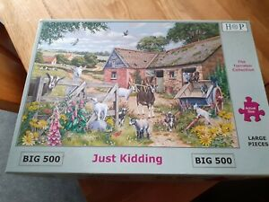 HOP BIG500 Jigsaw puzzle ''Just Kidding'', used, complete