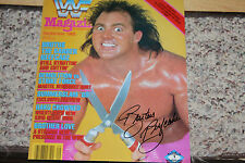 "BRUTUS ""THE BARBER"" BEEFCAKE SIGNED WWE/WWF 8X10 PHOTO MAGAZINE COVER"