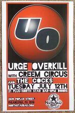 Urge Overkill 2011 Gig Poster Philadelphia Concert