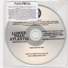 (FE728) Lower Than Atlantis, Beech Like The Tree - 2011 DJ CD