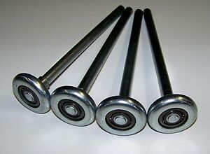 "Garage Door Roller Wheel LONG STEM 2"" X 7"" Stem STEEL"