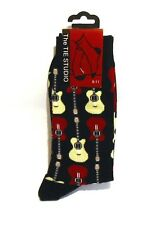 Guitar Design Men's Cotton Socks Music Gift Rock Pop Country Band Xmas Gift NEW