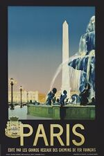 PARIS - VINTAGE TRAVEL POSTER 24x36 - EIFFEL TOWER FRANCE 36058