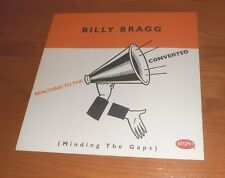 Billy Bragg Minding the Gaps 2-Sided Flat Square Original Poster 12x12 RARE