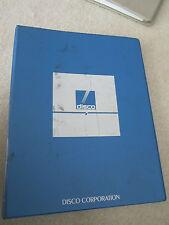Originale Manuale Discoteca Automatico Taglio Sega