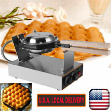 Commercial Nonstick Electric Egg Cake Waffle Maker Stainless Baker Machine US
