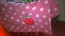 2 x BEAUTIFUL PINK SPOT BRAND NEW FLEECE PRAM/CAR SEAT/CRIB BLANKETS *SALE *