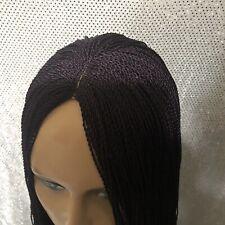 Hand braided micro twist Wig.Neatly braided  Color  purple.