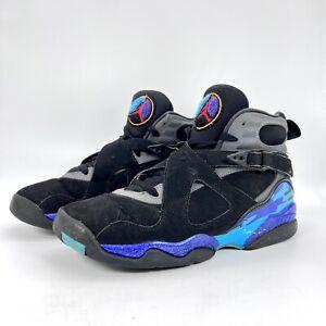 "Nike Air Jordan 8 Retro ""Aqua"" 2015 305368-025 GS Size 7Y/Women's Size 8.5"