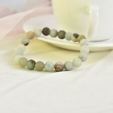 8mm Boho Amazonite Beaded Bracelet Men Women Yoga Mala Beads Meditation Jewelry