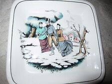 The Good Old Days Royal Staffordshire Ceramics by Clarice Cliff ice skaters dish