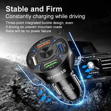 More details for 12v car lighter socket dual qc3.0 usb ports fast charger power adapter uk new
