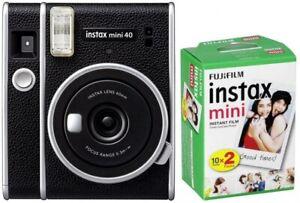 Fujifilm Instax Mini 40 EX D schwarz + Film DP Sofortbildkameras & Instaxkamer