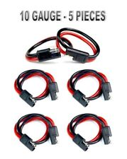 """5 Pieces 10 Gauge 12"""" Quick Disconnect Power Wire Cable Harness"""