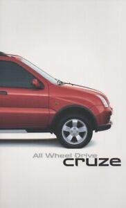 Holden Cruze Brochure 2004