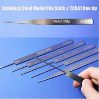 GALAXY Tools Stainless Steel 0.8mm Model File Stick Grinding T05A1/2/3 Fine Tip