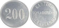 Schlachtschiff Gneisenau 200 Pfennig Aluminium für die Kantine prägefrisch
