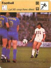 FICHE CARD: Loi XII: Le coup franc direct Michel Platini FRANCE FOOTBALL 1970s