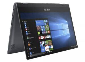 "NEW ASUS VivoBook Flip 14"" FHD Touch i3-8145U 4GB RAM 128GB SSD Backlit Keyboard"
