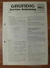 Dispositivo musicale sono-clock 160 Grundig Service Manual Istruzioni di servizio